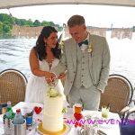 Hochzeitsfeier auf dem Wasser